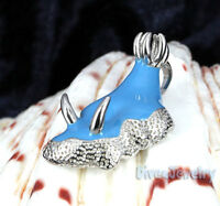 Sterling Silver Light Blue Nudibranch Sea Slug Pendant Necklace diver Jewelry