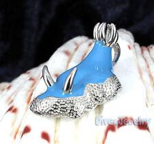 Sterling Silver Light Blue Nudibranch Sea Slug Pendant Necklace diver Jewelry