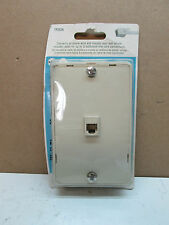 RCA TP252N 3-Way Modular Wall Phone Jack Ivory Phone Wire Connection