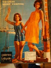 catalogue galerie lafayette 1963 mode vacances   sport  camping ...