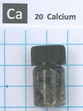 1 gram 99.85% Calcium Metal in glass vial  -  Element 20 sample