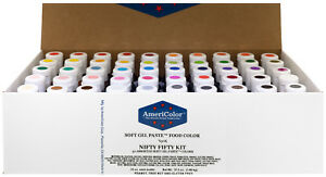 AmeriColor Nifty Fifty Kit, Soft Gel Paste, 50 .75 Ounce Bottles