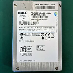 100GB SLC & PLP (Power Loss Protection) SATA SSD, Samsung / Dell MZ5S7100XMCO