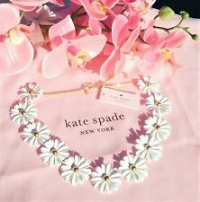 Kate Spade Dazzling Daisies Statement Necklace White Gold Tone Great Gift