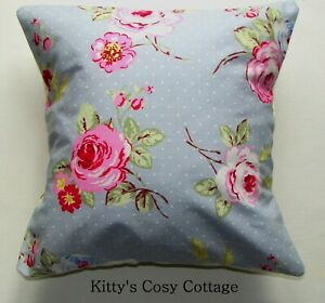 "16"" New Retro English rose blue pink fabric cushion cover"