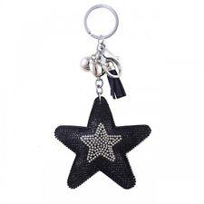 Llave Llavero de bolsa Estrella con pedrería Azul Oscuro