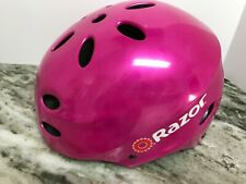 Youth Razor Hot Neon Pink Bike/Skateboard Helmet Sz Medium
