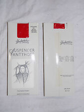 2 pairs Red Fredericks Suspender Pantyhose Tights Crotchless Open Crotch Hosiery