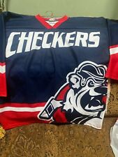 Vintage CHARLOTTE CHECKERS Hockey Fan Jersey Ot Sports Men's Sz L
