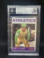 """1964 Topps TONY LARUSSA #244 BGS BAS Auto Autograph Signed Rookie RC A""""s HOF D3"""