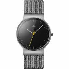 Armbanduhr Braun Unisex Analog Quarz Edelstahl Dornschließe Schwarz Uhr Silber