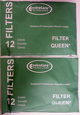 24 Cones + 4 Filters (round shaped) Majestic Filter Queen Vacuum Bags Part 200