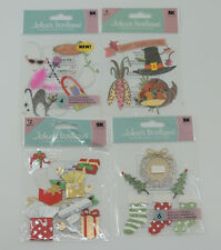Jolees Boutique Christmas Stockings Sea Ghosts Thanksgiving Dimensional Stickers
