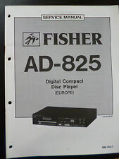 Original Service Manual Fisher Digital Compact Disc Player AD-825