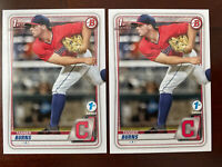 Tanner Burns - 2020 Bowman Draft First 1st Edition 2 Card Lot BD-115 Indians