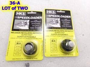 Lot of 2 HKS 36-A Speedloader 38/357 S&W J frame 36 442 60 RUGER SP101 TAURUS 85
