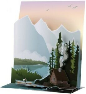 Lakeside Cabin  -  SOUND CARD - 3D Pop-up Card  by Up With Paper