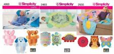 Simplicity 4993, 2493, 2935 Rag Quilt Animal Patterns NEW