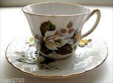 VTG ROYAL SUTHERLAND STAFFORDSHIRE FINE BONE CHINA TEA CUP/ SAUCER WHITE/ YELLOW