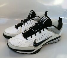 NIKE Air Elite Pre-Game 414821-101 SZ 10 White/Black BASEBALL LEATHER RARE SHOES