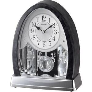 Marble Crystal Bells Musical Mantel Clock