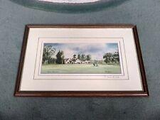 Framed Print Burford Golf Course signed by Denis Pannett 30 x46cm