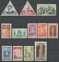 1951 Monaco Série du N°353 à 364 Non dentelés Neuf luxe** COTE 205€ D2457