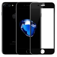 Carbon Fiber 3D Curved Screen Protector Tempered Glass Fit for iPhone 8 7 Black