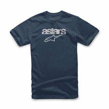 Alpinestars Heritage Blaze T-Shirt - Navy Blue/white