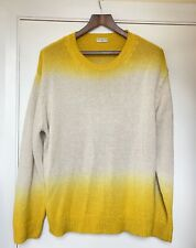 DRIES VAN NOTEN Dip-dye cotton and linen-blend jumper - Large [UPCYCLE]