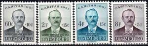 Luxemburg Luxembourg 1951 CARITAS Laurent Menager Satz postfrisch MNH** KW:45€