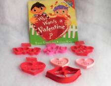Valentine Day Cookie Cutters Lot of 7 ~ Wilton & Hallmark plus Children's Book