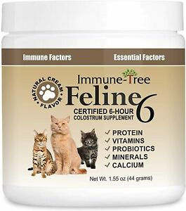 Immune-Tree Colostrum Probiotic Powder for Cats Supplement for Cat Allergy