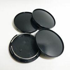 4pcs 68mm Universal ABS Black Car Wheel Center Hub Caps Covers Set No Emblem