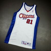 100% Authentic Darius Miles Champion 01 02 Clippers Game Issued Jersey 48 XL