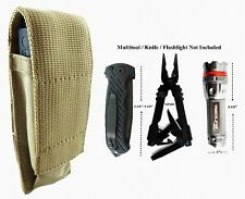 For Gerber MP800, MP600 Folding Knife,Flashlight Adjustable Pouch Sheath TAN BIN