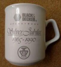 Black and Decker Spennymoor Durham Factory Silver Jubilee 1965 - 1990 Years Mug
