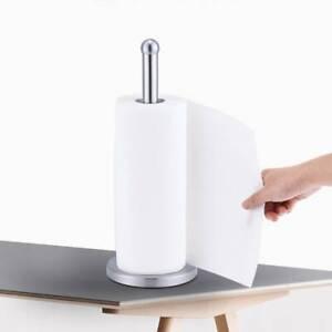 Freestanding Stainless Steel Kitchen Towel Roll Pole Holder Kitchen Paper Stand