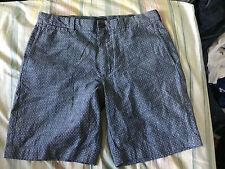 "J. Crew Chambray Polka Dot Stanton Shorts Waist 32 Inseam 9"" $99.50"