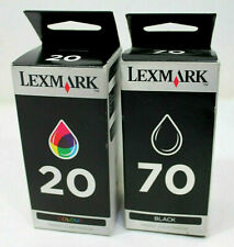 Lexmark 70 + 20 Twinpack New Genuine Lexmark Black & Colour Ink Cartridges BNIB