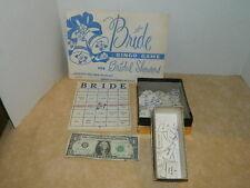 Vintage 1958 50's Bride Bridal Wedding Shower Bingo Game for 20 guest