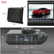 "Car 9"" Dual Screen DVD Player Portable LCD Headrest Built-in Speaker Black Color"
