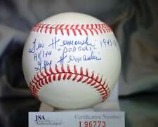 Gene Hermanski Jsa Certed National League Autograph Baseball Authentic Signed