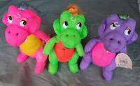 3x Darlin Dinos Figur - Hug N Hold Dino Dinosaurier Mädchen Kuscheltier - 1992