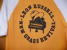 VINTAGE 1980 LEON RUSSELL NEW GRASS REVIVAL ORANGE XL CONCERT TEE