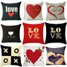 Cotton Linen Pillow Case Sofa Cushion Cover Home Decor for Valentine's Day Gift