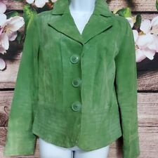 Live a little Green leather jacket