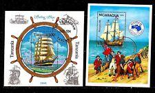 PM15 TOUS PAYS 2 blocs : Les voiliers, sailing ships