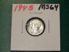 1945  MERCURY SILVER DIME    - SUPER NICE COIN!!!          MER76