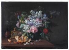 Nature morte aux lilas et mandarine par Pierre  Camille Gontier époque XIXème